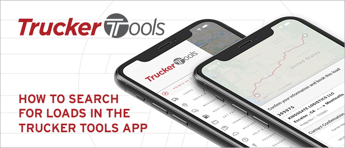 How to search and book loads with Trucker Tools mobile app
