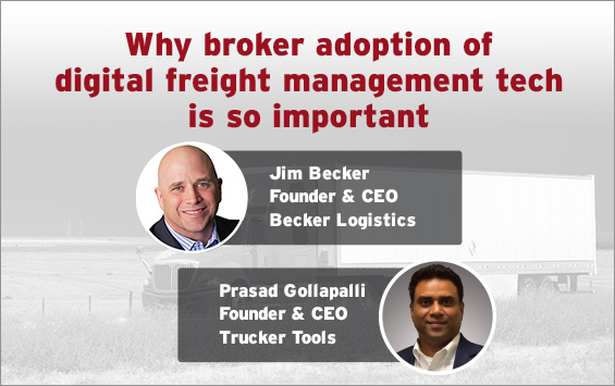 Why broker adoption of digital freight management tech is so important