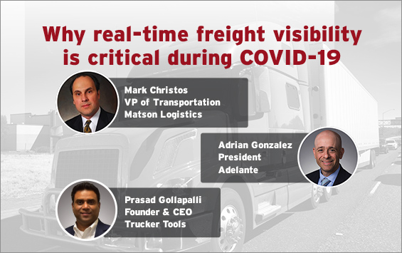 Why real-time freight visibility is critical during COVID-19