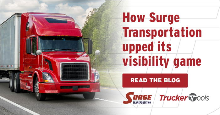 Surge Transportation Simplifies Load Tracking for Employees and Carriers, Achieves 90+ Percent Visibility Compliance with Trucker Tools' Freight Tracking