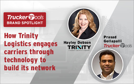How Trinity Logistics engages carriers with technology to build its network
