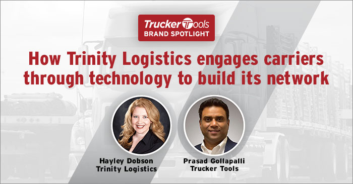 How Trinity Logistics Uses Trucker Tools' Tech To Engage and Retain Carriers