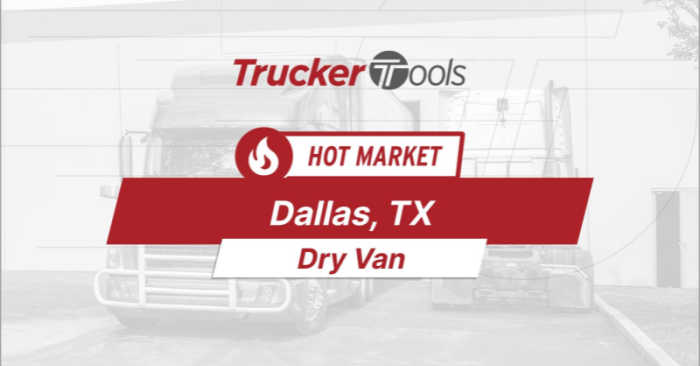 Where's the Freight? Dallas, Jefferson City, Allentown, Chicago and Spokane Projected To Be Top Markets for Truckers/Carriers in the Coming week