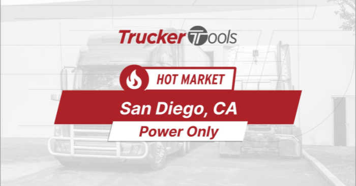 Where's the Freight? Dodge City, Rapid City, Texarkana and San Diego Will Be Top Markets for Truckers in Coming Week