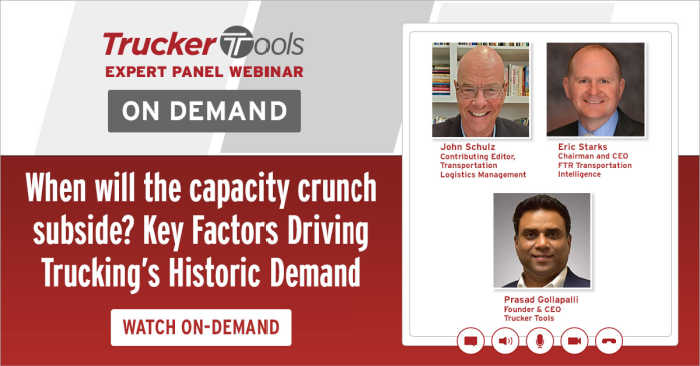 Expert Panel: How Brokers, 3PLs Can Be Successful During Historic Capacity Crunch