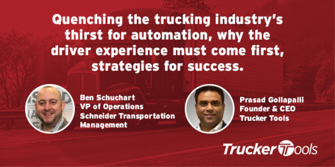 Quenching the Trucking Industry's Thirst for Automation, Why Driver Experience Must Come First, Strategies for Success