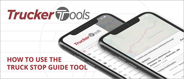 How to use the Truck Stop Guide in Trucker Tools' New App