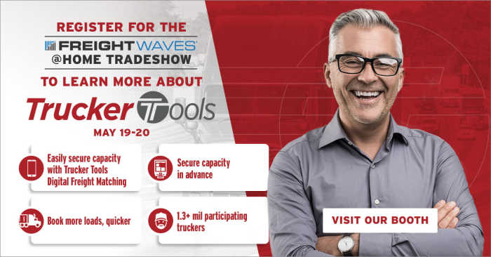 Join Trucker Tools at FreightWaves' LIVE @HOME Virtual Event May 19-20