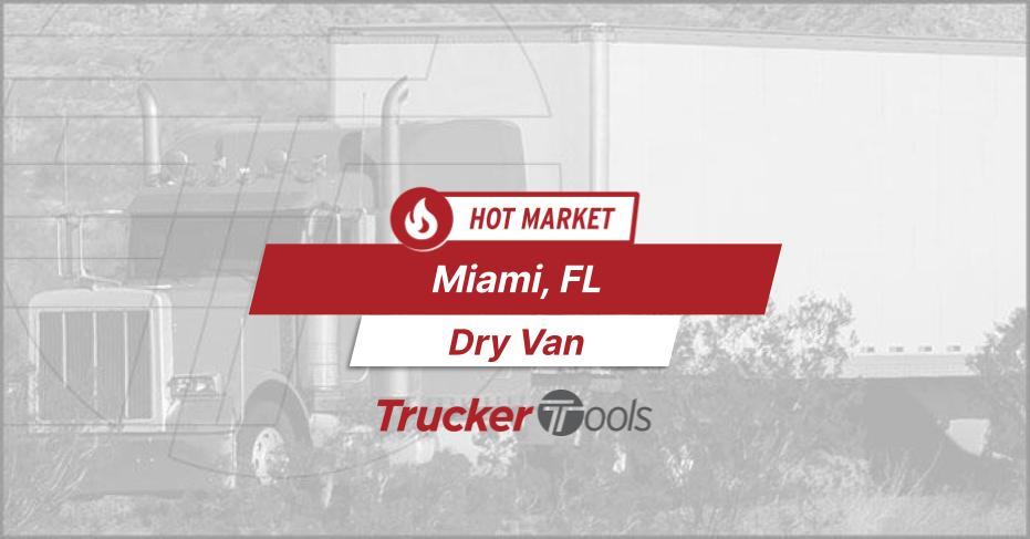 Where's the Freight? High Demand for Trucks to/from Miami, Houston, Wichita, Southwestern Ontario and Boston This Week
