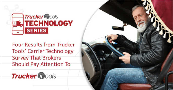 Four Results from Trucker Tools' Carrier Technology Survey That Brokers Should Pay Attention To