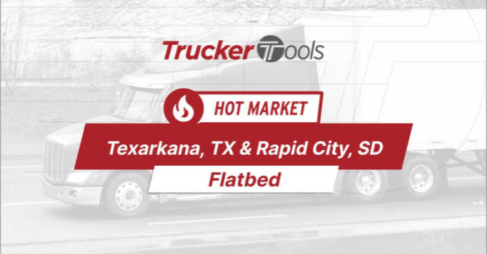 Where's the Freight? Expect High Demand for Capacity To/From San Diego, Texarkana, Flagstaff, El Paso and Rapid City This Week