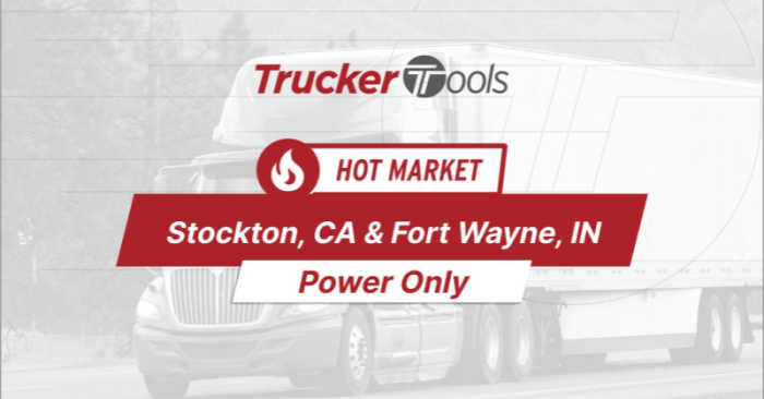 Where's the Freight? Cheyenne, Stockton, Decatur, Fort Wayne and Texarkana Top Markets for Truckers in the Next Week